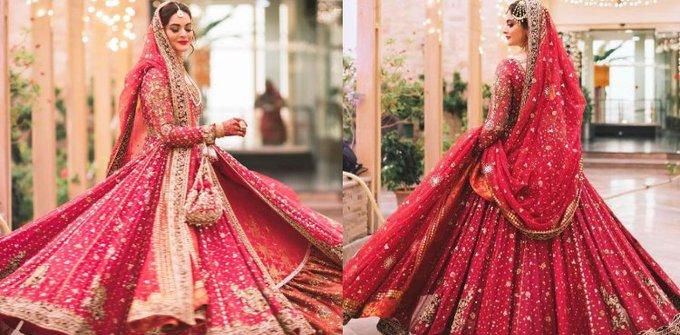 Designer says 55 artisans came together to create Minal Khan's bridal dress!-Social Pakora