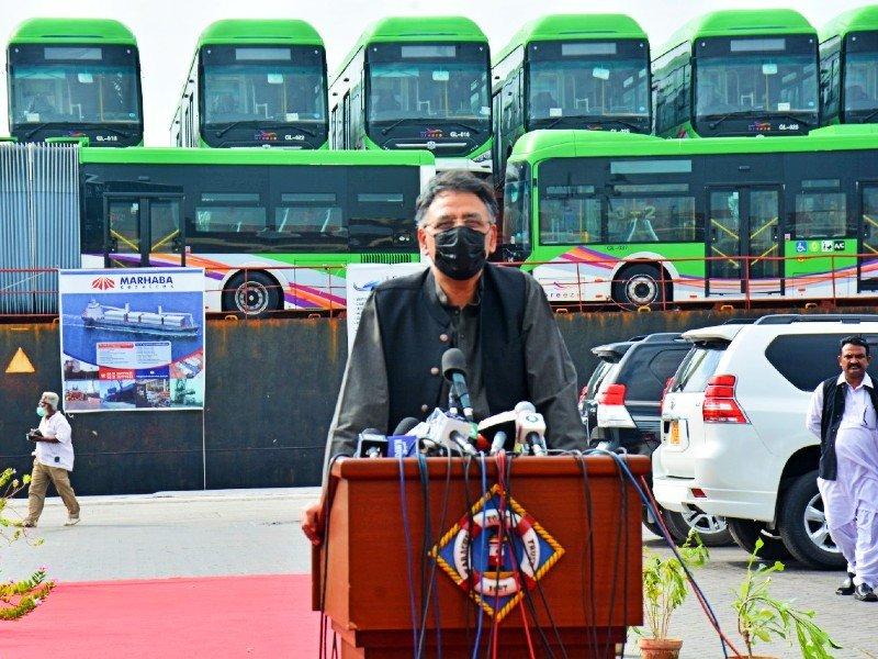 KARACHI'S GREEN LINE BRT TEST RUN BEGINS